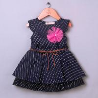 2014 Fashion Design Baby Girl Dresses Kids Summer Chiffon Fashion Daress  With Belt Children Clothing Hot Sale