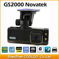 "Car Camera DVR Recorder GS2000 , Black Box with 1.5"" LCD + 720P + G-Sensor + HDMI + 120 degree Viewing angle"