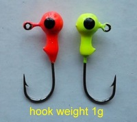 New arrival mini lead head fishing hooks1g Jig head lures JIG HOOK Head Jig fishing lure fishing tackle 400pcs/lot Free shipping