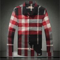 Big size M-3XL 4XL Classic Plaid Men's Casual Shirt! Pop fashion brand man Shirt, 2014 Autumn New Slim Fit, Long-Sleeved,b18