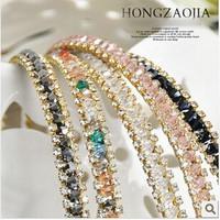 Bohemia Colorful Rhinestone Crystal Headbands Hairbands Hair Accessories Women