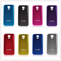 Plastic+Aluminum Battery Cover Back Case Door Replacement Housing For Samsung Galaxy S5 I9600 9600 Smart Phone Black Gold Red