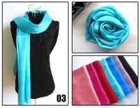 [Silk Jarcquard Scarf]50cm*175cm Solid Long Scarf/100% Natural Silk/Rose Jacquard Scarves/New 2014 Spring & Summer/7 Colors