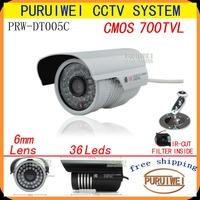 "100% Original 1/4""CMOS 700tvl IR-CUT Filter 960H 36leds IR 25 meters outdoor surveillance CCTV Camera with bracket free shipping"