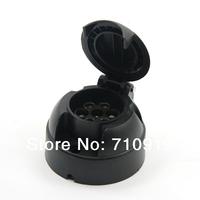 Tirol 7-Pin Trailer  Black Plastic 7-Pole Trailer Socket 12V Towbar Towing Socket N Type -Vehicle End T13432a  Free Shipping
