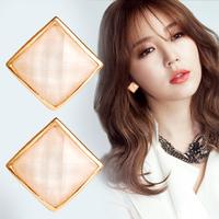 Special retro earrings 2014 new female Korean fashion square earrings opal earrings pierced earrings