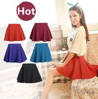 2014 New Korean Fashion Fold High Waist Skirt Short Skirts Free Shipping 8 Colors N26639