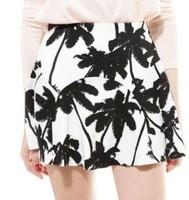 2014 Summer New Women Clothing Elastic Waist COCO Print All Match Short Skirt  N26647