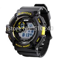 Brand Watch SKMEI S-shock Mens' Sports Watch Muitcolored Backlight Alarm Chime Hourly 50M Waterproof Wristwatch Free Shipping