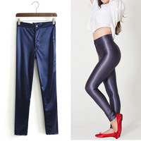 2014 New Hot Fashion Womens Ladies Disco American Apparel Style Ladies High Waisted Leggings Pants Trousers Stretch