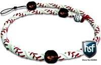 free shipping Baltimore Orioles Classic Frozen Rope Genuine Baseball Leather Necklace Wholesale / Retail