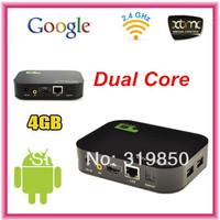 Q10 Dual Core ALLWINNER A20 Android 4.2 Smart TV Box Pro Media Player 1080P WIFI HDM XBMC 1GB RAM 4GB ROM AV Port Mini pc RJ45