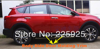 Stainless steel Body Side Door Molding trim For 2013 2014 Toyota RAV4 RAV 4