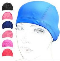 2014 Promotional adult women excellent elastic swimming swim cap