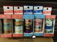 Free ship 1lot=48pcs/12box New fashion washi masking cartoon DIY tape/cute adhesive tape / DIY sticker label/wholesale