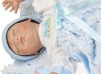 24 inches Reborn baby doll silicone vinyl simulation sleeping newborn doll smiling baby boy toys handmade lifelike new toys