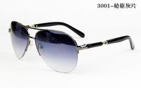 3001High quality Stainless Steel frame brand sunglasses men aviator,half-frame latest fashion personality glasses men designer