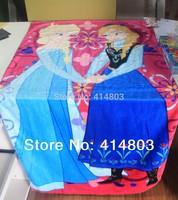 Ready to Deliver! 2014 Most Popular new FROZEN Anna Elsa Kids bath towel Girls Bathing Robe, bathrobe, kids beach 2 color RETAIL