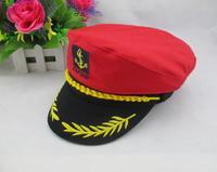Adult Yacht Boat Ship Sailor Captain Costume Hat Cap Navy Marine Admiral