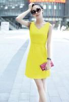 New 2014 spring and summer Fashion women's dresses Sleeveless dress women Free shipping