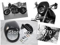 BLACK Front Cowl Fork Mount Headlight Fairing Bezel Mask For Harley Sportster Dyna XL 883 FREE SHIPPING