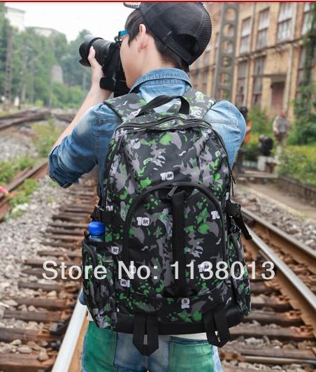 Free Shipping Waterproof Oxford Outdoor Camping Equipment Fashion Printing Men Backpack Large Volume Travel Rucksack Laptop Bag(China (Mainland))