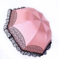 10% OFF New 2014 Elargol lace folding manual women sun or rain umbrellas lace, Princess fashion rain gear Korea Free shipping
