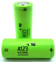 Original a123 systems ANR26650M1A 26650 lifepo4 cell 2500mAh 30C discharge a123 lifepo4 battery a123 battery lifepo4 26650 3.2v