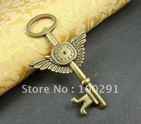 Factory direct sale//!!Hot fashion DIY charms 100pcs 75x45mm Big Clock key antique bronze pendant charms