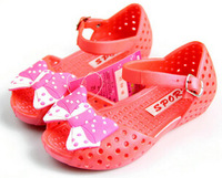 Bow sandals breathable shoes child sandals small anti-odor children shoes waterproof plastic shoes