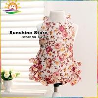 Sunshine Store #7A0097 3pcs/lot Hot Flower Girl Swimwear Hang Neck Backless Swimsuit Children Clothing Bloom Kids Bathing Suits