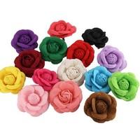 Fashion camellia brooch corsage elegant small quality big flower accessories