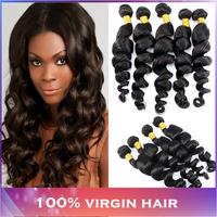 Modern show hair Peruvian loose wave 3/4pcs lot grade 5A unprocessed human hair cheap Peruvian virgin hair loose wave