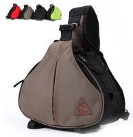Brand M-like SLR Digital Camera Bag Cross-body One Shoulder camera triangle bag For Canon 450D 5D Nikon D3100 D90 Free Shipping