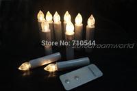 Free Shipping,10P/Set Wireless Remote Simulation LED Candle Lights AA Batteries Wedding Xmas Tea Lights,warm white