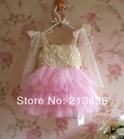 NEW ! 2014 girl summer lace flower dress ,girl's tutu dress , 5pcs/lot   J88