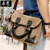 New 2014 Eshow Brand vintage handbag canvas briefcase bag men's messenger bags cross body bags BFK008501