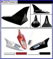 NEW 6LED 3Colors Flash LED Light Solar Power Car Auto Flash Warning Alarm Tail Light Shark Fin Style antenna tail warning light