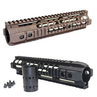 "Aluminum 4-weaver Quad Picatinny Rail Carbine Rifle Free Floating 10"" Handguard with QD Swivel Housing For Airsoft M16/M4"