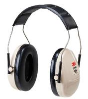 3M original safety ABS earmuffs  h6a heatshrinked anti noise hearing protective earmuffs top light weight beige NRR21DB E58