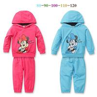 2014 kids set Boys Mickey Minnie girls short-sleeved skirt suit baby sets sports set size 80-120cm free ship