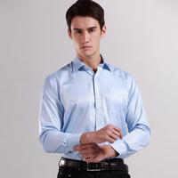 2014 Mens Formal Dress Shirt Clothing Man Mandarin Cotton Long-sleeve Business Dress Shirts Strip Smart Casual Shirts Work Shirt