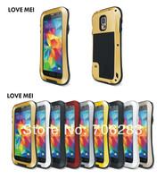 Galaxy S5 Original LOVE MEI SMALL WAIST Powerful Shockproof Dirtproof Waterproof Metal Case For Samsung Galaxy S5 G900