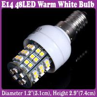 E14 SMD 3528 48-LED Light Bulb Lamp Warm White 220V AC 3W for Home Hotel No UV 5 pcs/Lot