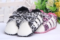 Free shipping 1 pair Leopard Baby First Walker PU Toddle/Infant boy Shoes,soft Crib/Bed Shoes, baby footwear