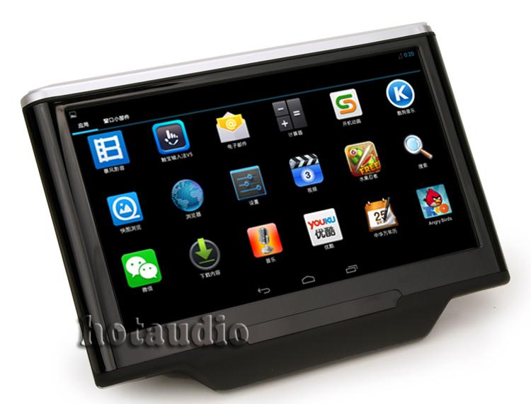 Pure Android 4.1 Car Headrest Pad HD1024*600 3G wifi + Capacitive Screen Cortex A9 Dual Core 1GHz CPU Ram Free IR Earphone(China (Mainland))