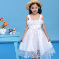 Teenage women's summer 7 8-9-10 13  female big children's clothing summer little girl casual one-piece dress