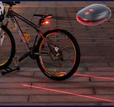 NEW Safety Cycling light Bicycle Saddle Flashlight Rear Lamp Bike Seat Cycle Laser 7 Modes Waterproof Warning Led Tail Light(China (Mainland))