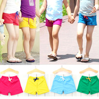 Free shipping new 2014 summer candy color boys pants girls pants child shorts hot trousers baby & kids pants