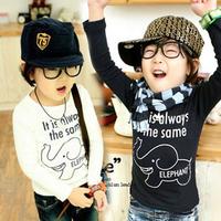 Free shipping 2014 spring & autumn children clothing & boys girls basic shirts baby & kids long-sleeve T-shirt tx-0230